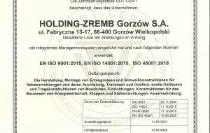 EN ISO 9001:2015 DEU